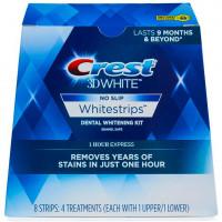 Отбеливающие полоски для зубов Crest 3D White No Slip Whitestrips Dental Whitening Kit 1 Hour Express 8 шт