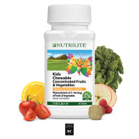 Детские жевательные таблетки Amway Nutrilite™ Kids Chewable Concentrated Fruits and Vegetables 60 таблеток
