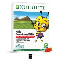 Жевательные витамины Amway Омега 3 Nutrilite ™ Kids Brainiums DHA Фруктовый вкус 350 гр, 112 пастилоок